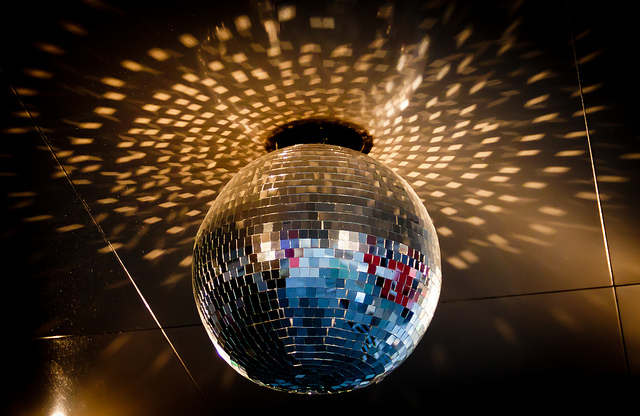 Disco ball in Times Square